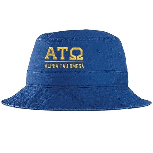 e82d03caac9 Express Design Group Men s Alpha Tau Omega ATO Fraternity Greek Letter  Bucket Hat