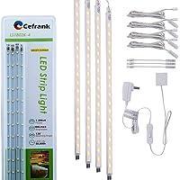 Kit de barra de luz LED de 4 piezas para exhibición debajo del gabinete, iluminación…