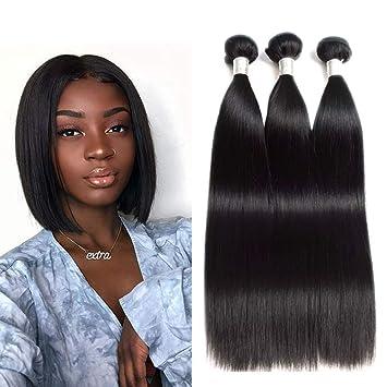 Amazon Com Newness 9a Indian Straight Hair 3 Bundles Shoulder Length Weave Human Hair Bundles Unprocessed Virgin Human Remy Hair Bundles 12 14 16 Inch 3 Pcs Lot Total 300g Beauty