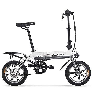 Rico poco Mini bicicleta eléctrica plegable 14 pulgadas Rueda Aleación de aluminio Motor de 250 W