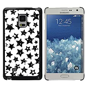 KOKO CASE / Samsung Galaxy Mega 5.8 9150 9152 / las estrellas del cielo blanco negro cosmos universo noche / Delgado Negro Plástico caso cubierta Shell Armor Funda Case Cover