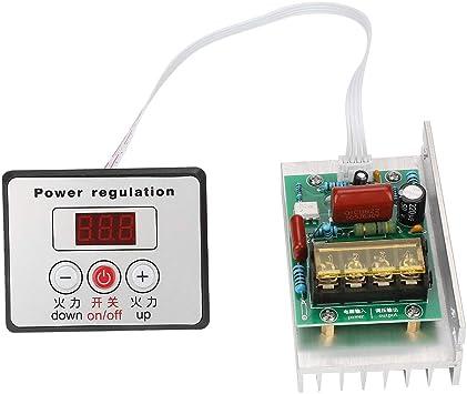 SCR Controlador de velocidad del motor,8000 W AC 220V Regulador ...