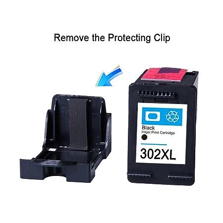 Remanufacturado Cartuchos De Tinta HP 302 XL 302xl Negro Tricolor de álta capacidad Compatible Impresora HP mit HP OfficeJet 3800 3830 4657 4658 HP ...