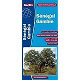 Sénégal, Gambie - Carte routière et touristique