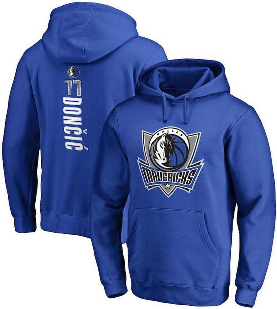 YHIU Herren Basketball Trikots-Dallas Mavericks Luka Doncic # 77 Hoodie Basketball Uniform Sweatshirt-S