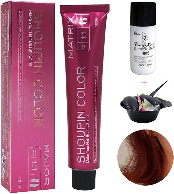 MQFORU Natural Ingredientes instantáneo negro tinte de pelo ...