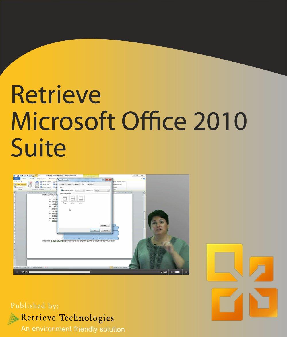 Amazon com: Retrieve Training for Microsoft Office 2010 Suite for