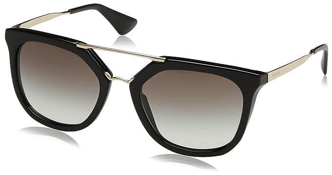 ab352533f8a8 Prada 13QS 1AB0A7 Black Gold Cinema Pilot Sunglasses Lens Category 2 Size  54m