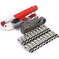 Compressietang set, coaxiale compressiegereedschapsset krimptang striptang RG6/RG59/RG58 met 20 stuks F…