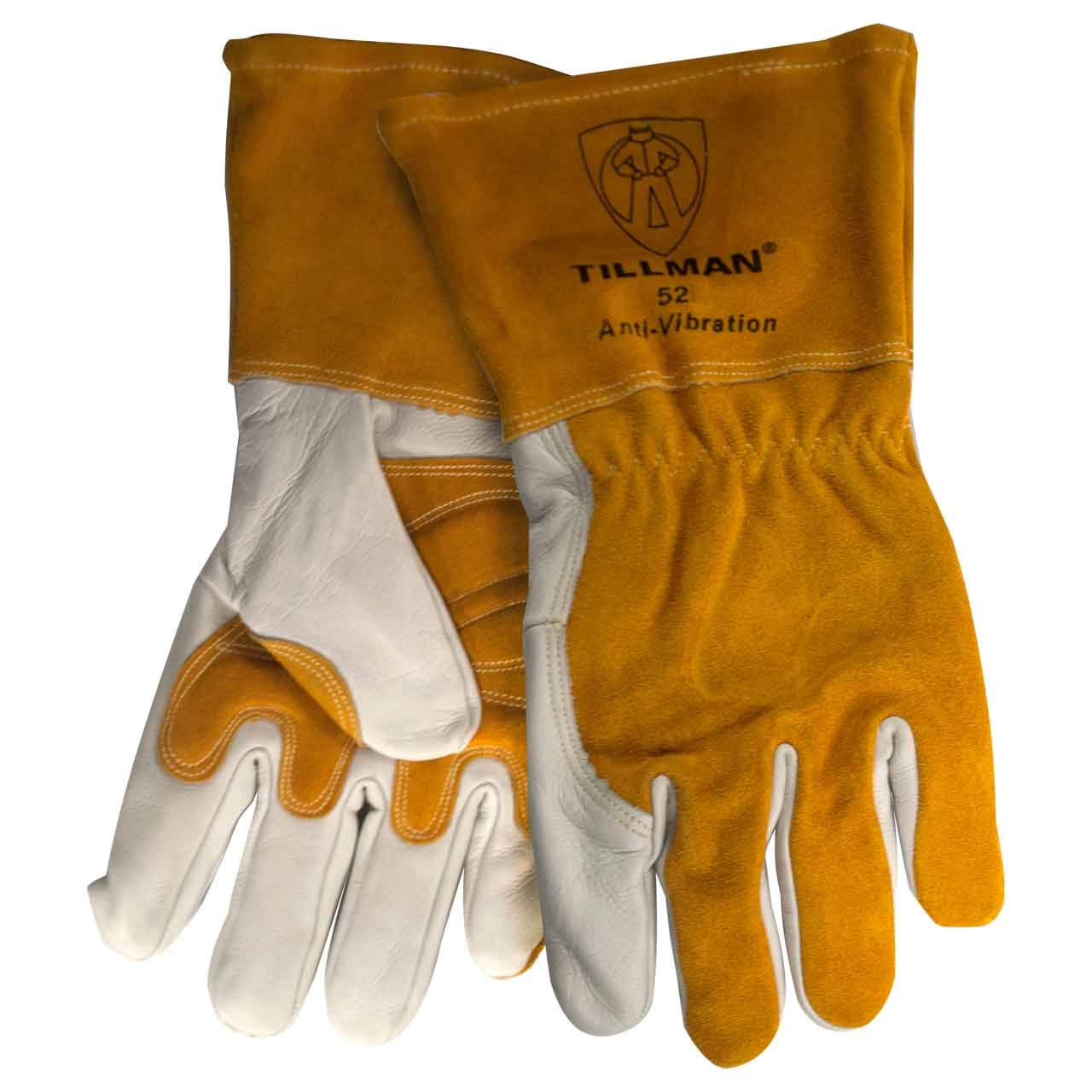 Tillman 52 Top Grain Cowhide Anti-Vibration MIG Welding Gloves, Medium