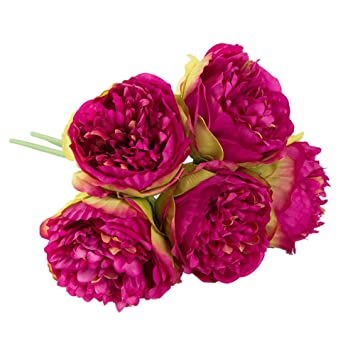 Artificial Peony Silk Flowers Heads Bridal Hydrangea Party Wedding Home Decor