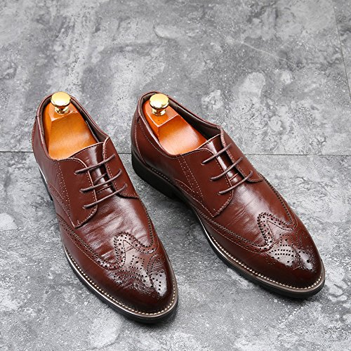Los Hollow De Punta Business Hombres Clasico Zapatos Estilo Vino Casual De Transpirable ALIKEEYEl RnYtqvn