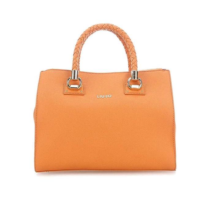 Liu Jo Manhattan Borsa a mano arancio  Amazon.it  Abbigliamento 95c310eeffa