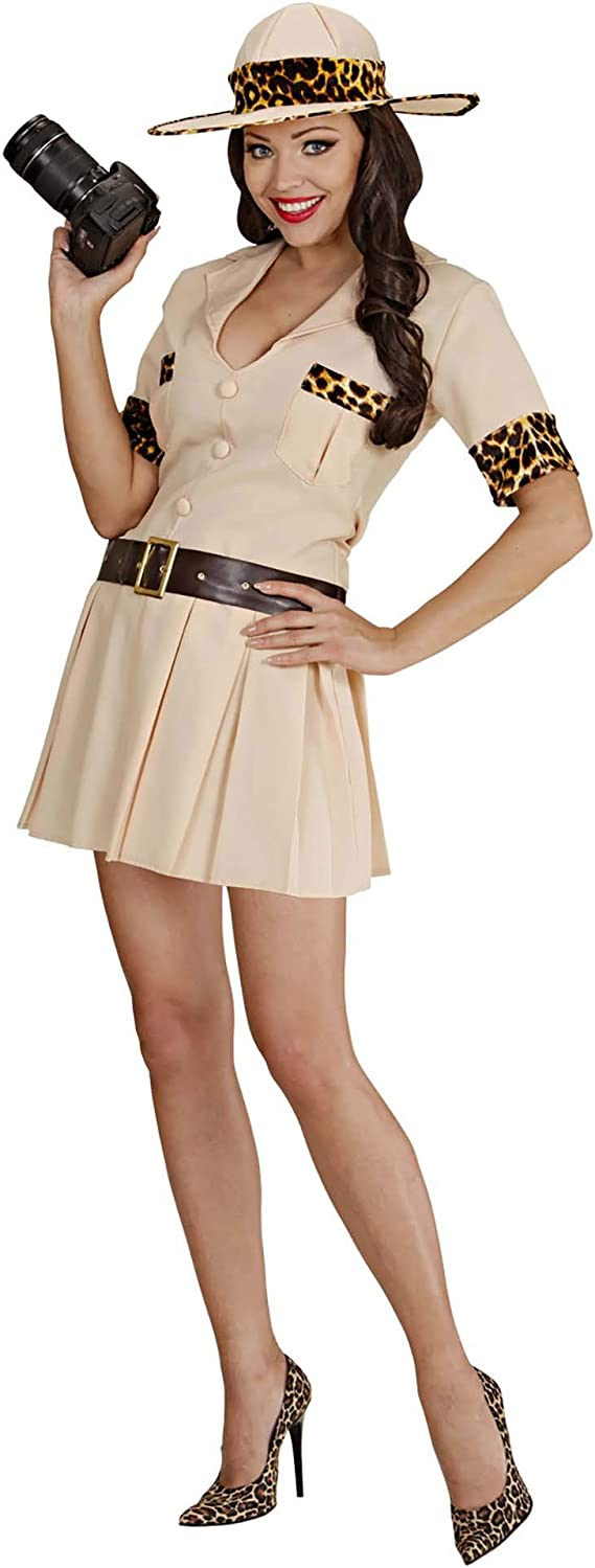 Ladies Safari Explorer Animal TV Film Hen Party Fancy Dress Costume UK 8-18