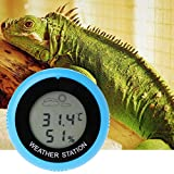 OTGO Reptile Digital Thermometer Hygrometer Humidity Temperature Meter for Indoor Reptile Breeding Box with Clip + Suction Cup