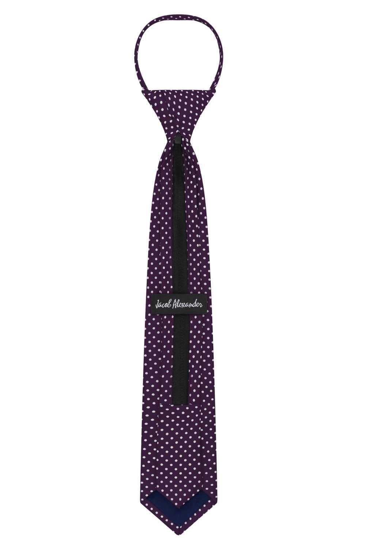 Rust Jacob Alexander Polka Dot Print Boys 14 Polka Dotted Zipper Tie