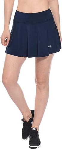 BALEAF Women's Athletic Golf Skirt Tennis Skort Pleated with Pockets Navy Size M