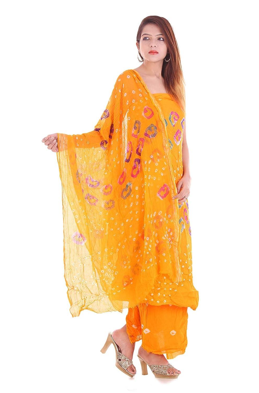 62f4f7e449 Generic Apratim Women's Cotton Bandhani Plain Salwaar Kameez Dupattas  Unstitched Set Salwar Suit Material (Yellow, Free Size): Amazon.in:  Clothing & ...