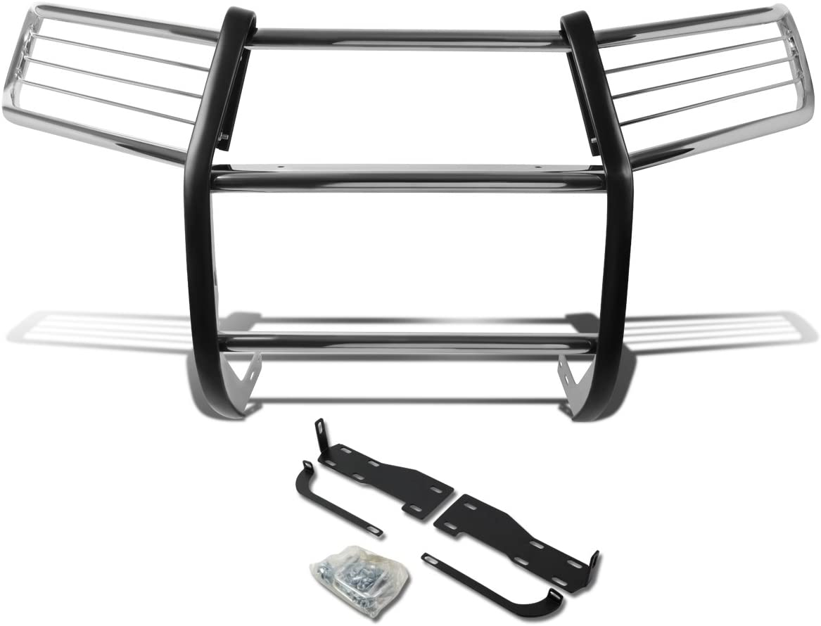 DNA MOTORING Silver GRILL-G-069-SS Front Bumper Brush Grille Guard for 10-13 4Runner