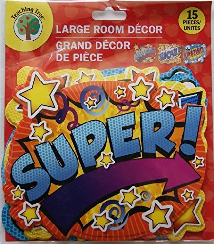 Teaching Tree Paper Cut-Outs - Encouragement Words (15 (Superhero Classroom Door)