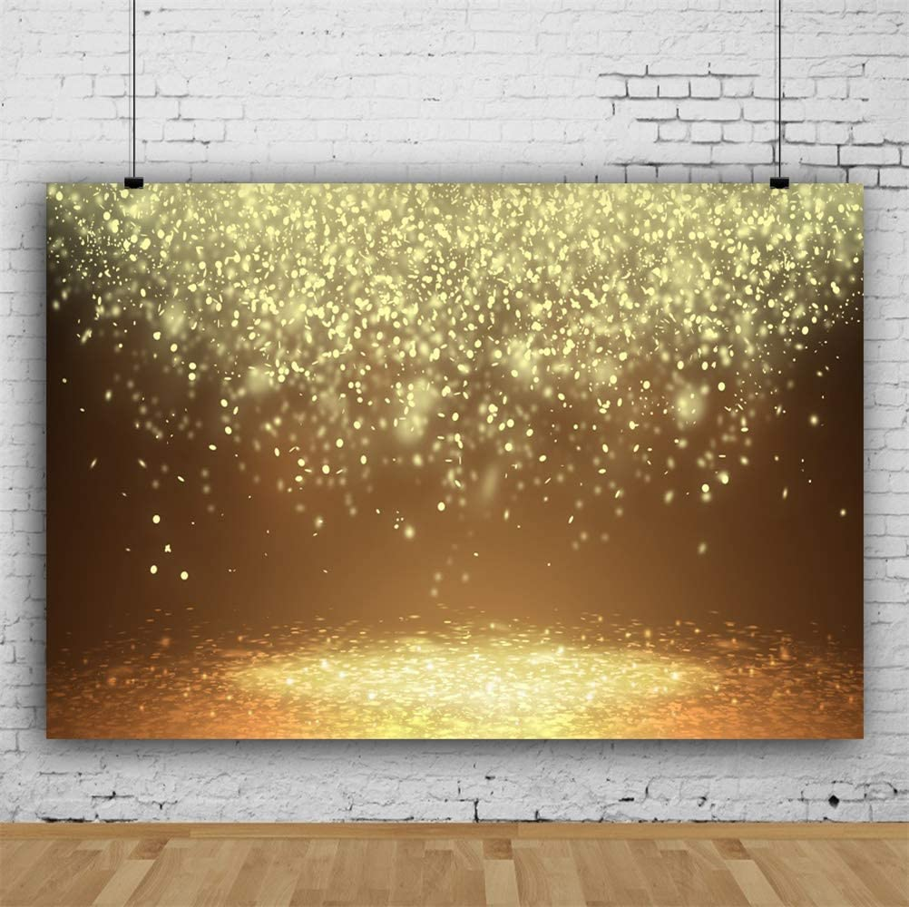GoEoo 10x7ft Warm Yellow Light Shine On Falling Petals Vinyl Photography Background Dreamlike Backdrop Child Adult Baby Girl Toddler Shoot Wedding Lovers Valentines Day Banner Studio Props
