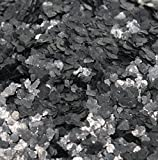 Black Natural Mica Flitter Flakes - One Pound Bulk Pack - #311-4395