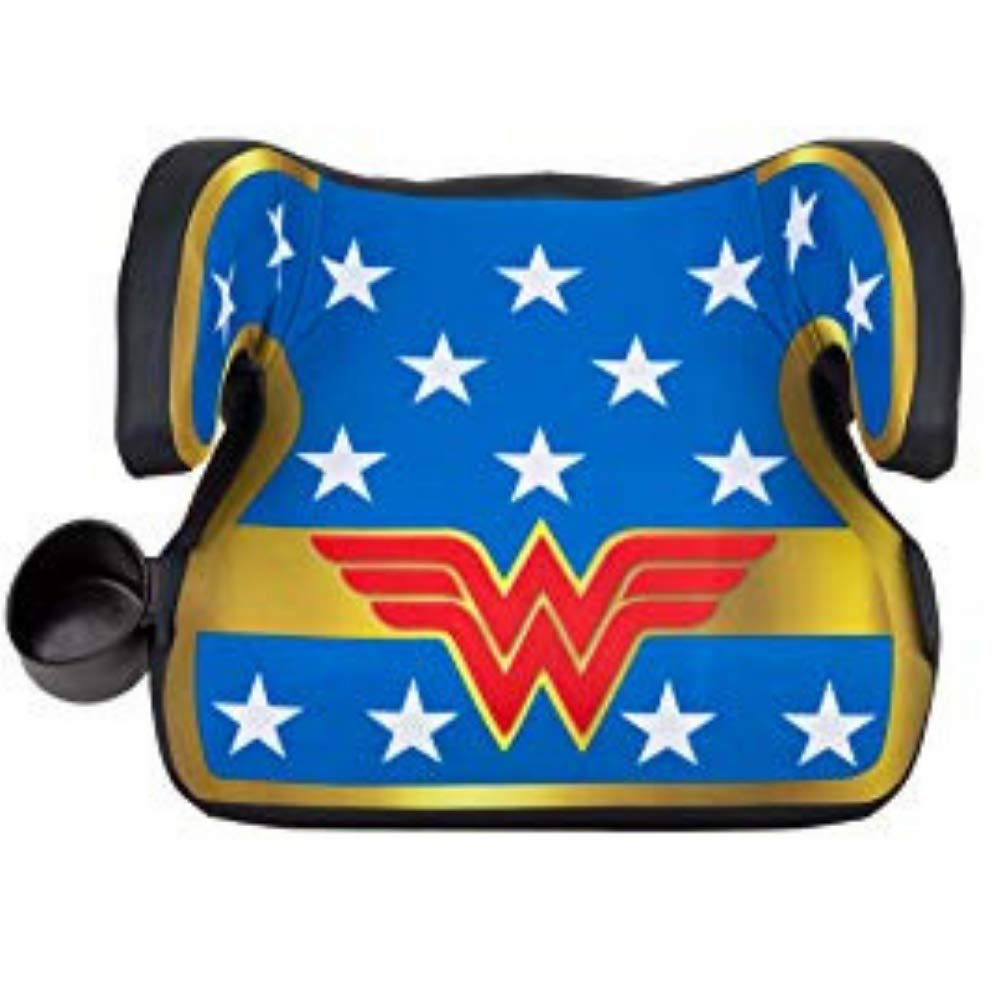 KidsEmbrace Wonder Woman Booster Car Seat, DC Comics Youth Backless Seat, Blue
