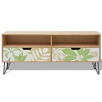 festnight meuble tv commande buffet avec tiroir meuble de rangement salon mdf 120 x 30 x - Meuble De Salon Buffet