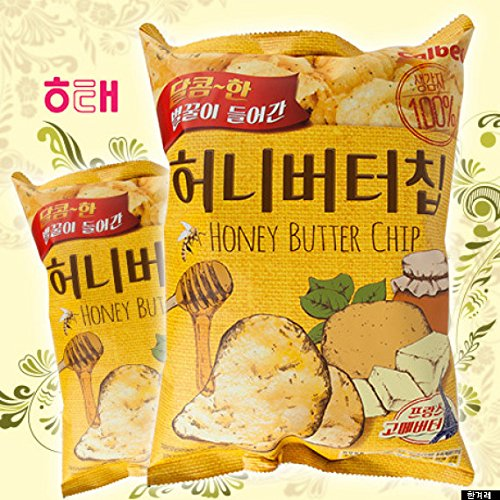 HaiTai Honey Butter Chip 60g * 8ea / Korean Potato Chips (8 bags)