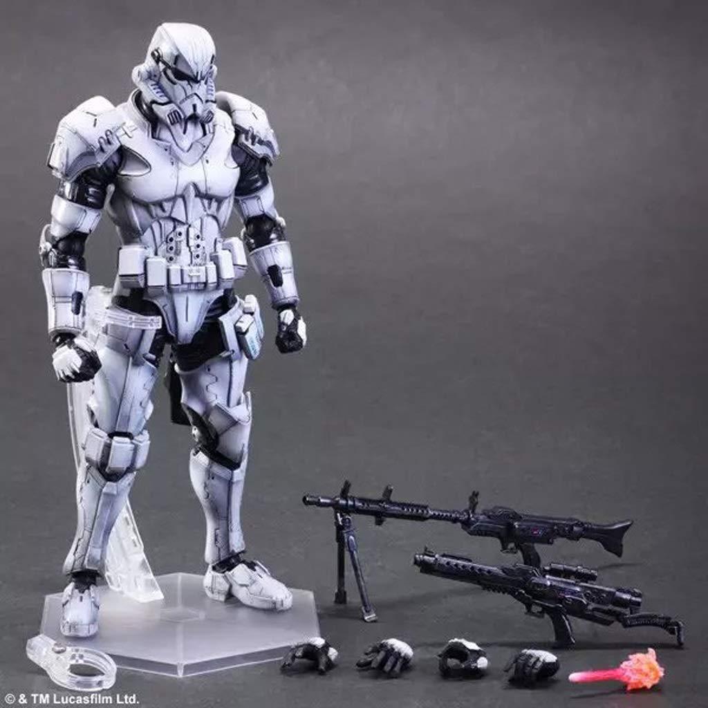 KGMYGS Star Wars Stormtrooper Soldado Blanco Modelo Móvil Modelo Estatua 26cm Anime Decoración