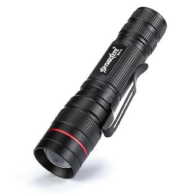 Sisit Mini lampe de poche avec 3500 Lumen + Zoom + LED CREE Q5. 3 mode d'éclairage Torch, lumière super brillante / lampe (Noir)