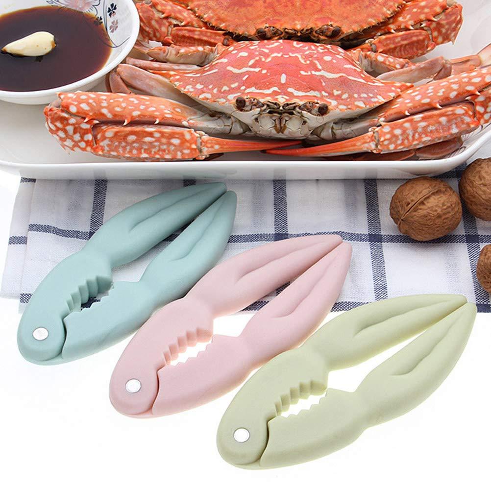 BESTONZON Utensilios de cocina Herramientas de peladura de langosta Clips de nuez Accesorios de fiesta casera de Navidad de galletas de nueces rosa