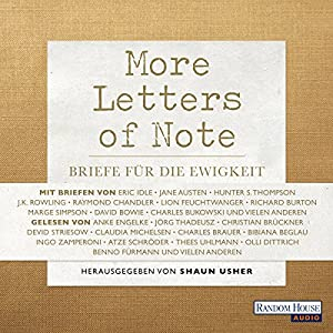More Letters of Note Hörbuch