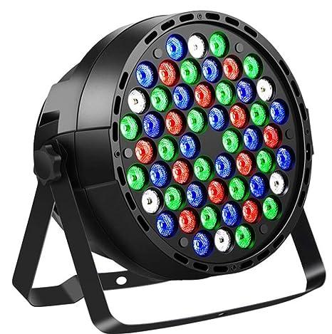 Laogg Luces de Escenario, DMX 54 Lámparas RGBW Par Light para Disco Party DJ Proyector