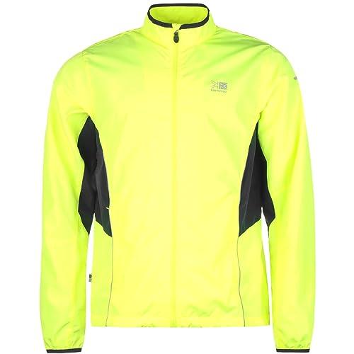 Mens Running Top Yellow Hi Viz And Reflective Long Sleeve