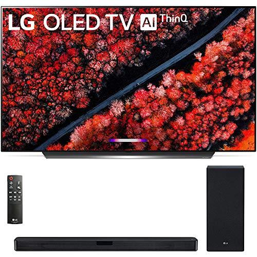 OLED65C9PUA 65″ C9 4K HDR Smart OLED TV w/AI ThinQ (2019 Model) w/ 420W 3.1-Channel Soundbar System DTS Virtual X – (SL6Y)