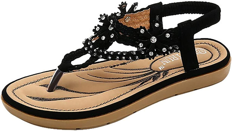 Amazon Com Xuanou Women S Summer Fashion Sandals Rhinestone Casual Beach Slippers Shoes Sandals