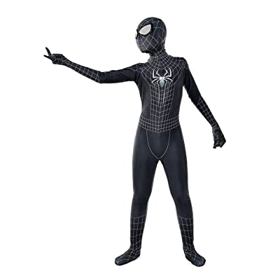 Panmeihua Kids Superhero Spandex Costume Cosplay 3D Zentai Full Bodysuit: Clothing