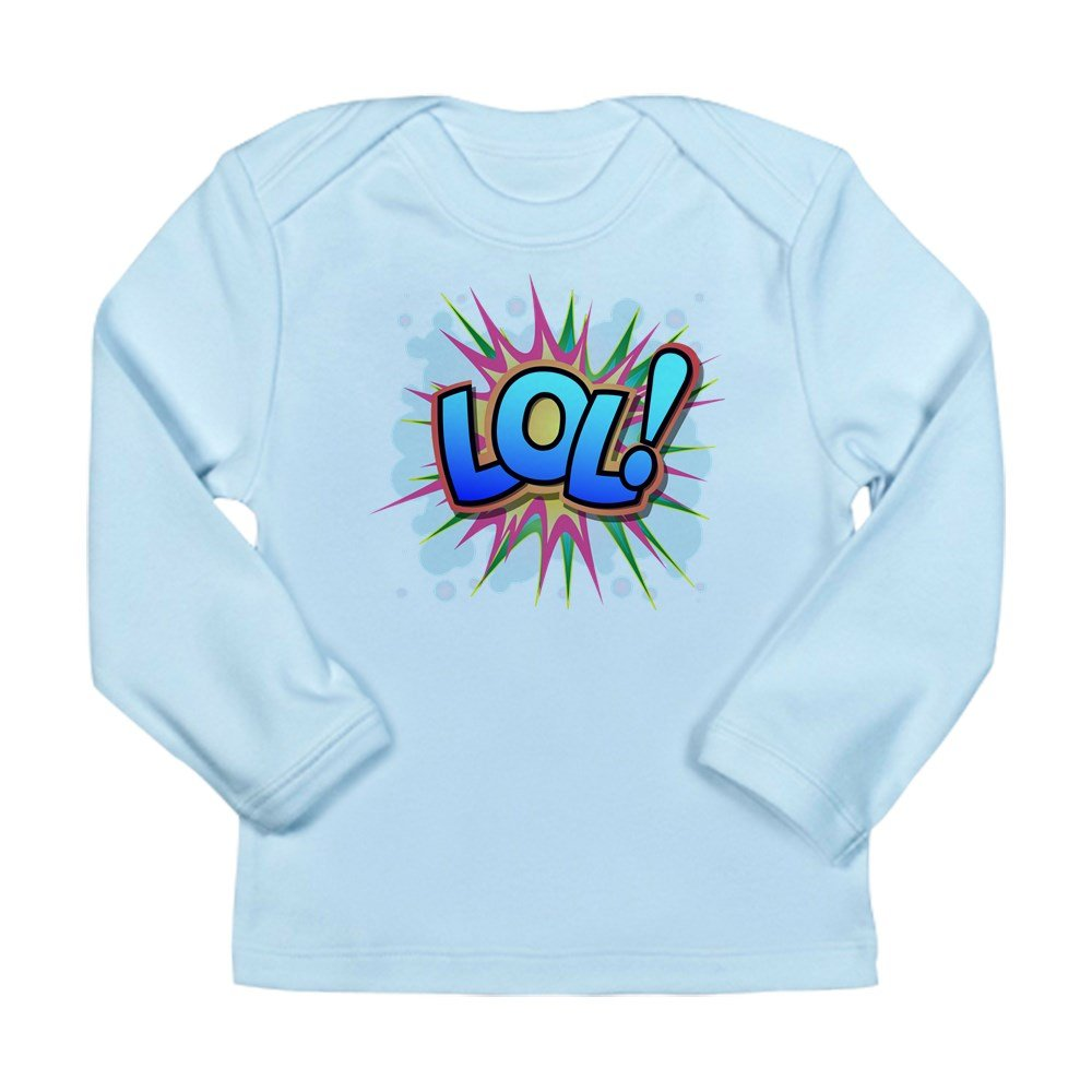 Truly Teague Long Sleeve Infant T-Shirt Text Abbreviation LOL! 18 To 24 Months Sky Blue