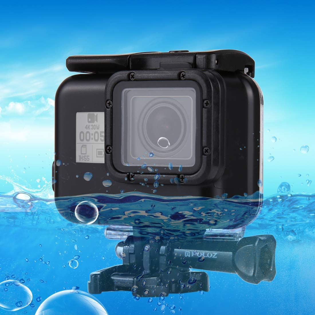 Color : Color2 2018 with Buckle Basic Mount /& Screw CAOMING 60m Waterproof Housing Protective Case for for GoPro Hero //HERO7 Black //6//5 No Need to Remove Lens Durable