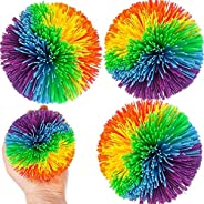 3 Packs Large Monkey Stringy Balls, Size 12 cm /4.8 in., 110 g /0.24 LBS., Stress Relief Balls Color Elastic B