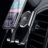 【2019最新版】DesertWest スマホ車載ホルダー スマホホルダー 携帯車載ホルダー エアコン吹き出し口取り付け スマートフォンカーホルダー 斬新なギア連動技術/片手操作可能/自由調節可能/360度回転可能/ 4.7-6.5インチ多機種対応 iPhone/Samsung/Huawei/Sony/LG など対応 日本語取り扱い説明書付き