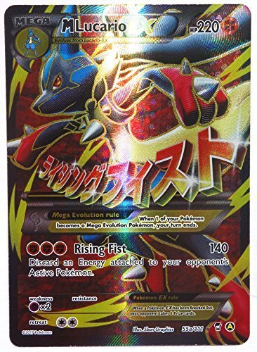 Pokemon, Mega M Lucario EX 55a/111, Promo, Full Art , Mint
