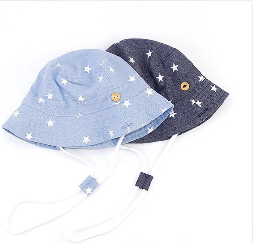 Aged 3-5Y XL hellblau GAOU Baby Jungen Baumwollhut Sonnenhut Strandhut Sommer Outdoor LSF 50+ mit verstellbarem Kinnriemen Alter 6M-3 Jahre