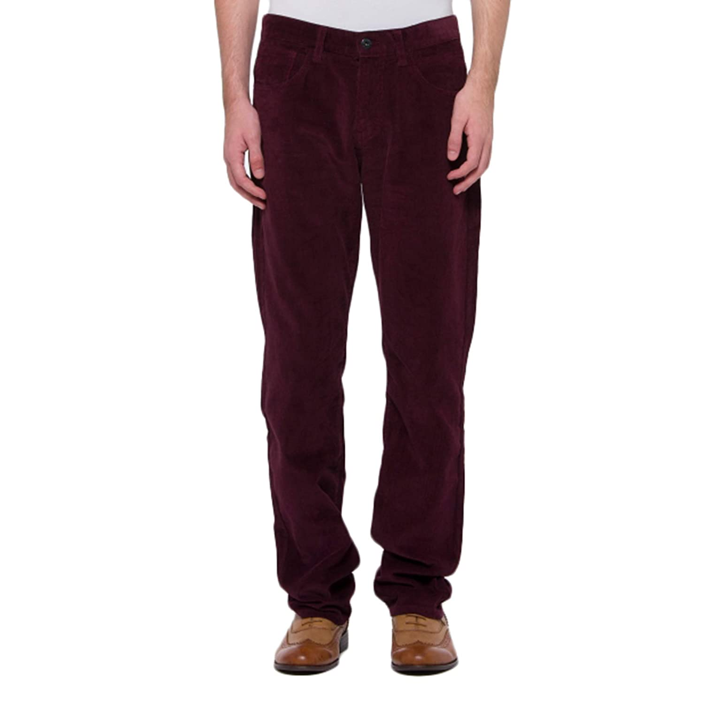 bossini Mens Pants Casual Snug Slim Fit Corduroy Pants