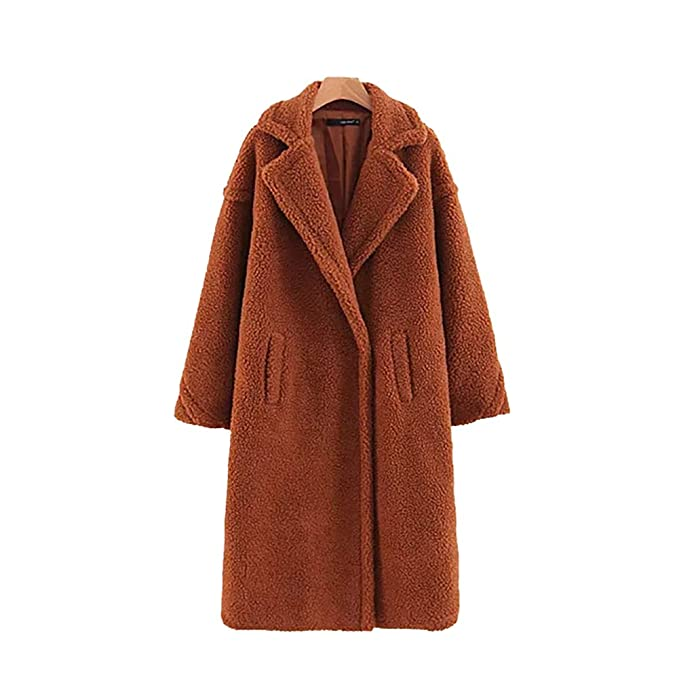 pretty nice hot-selling newest sneakers for cheap MONMOIRA Women's Fashion Long Sleeve Lapel Fluffy Faux Fur Teddy Coat with  Pocket Warm Winter