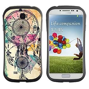 Suave TPU GEL Carcasa Funda Silicona Blando Estuche Caso de protección (para) Samsung Galaxy S4 I9500 / CECELL Phone case / / Catcher Indian Watercolor Native /
