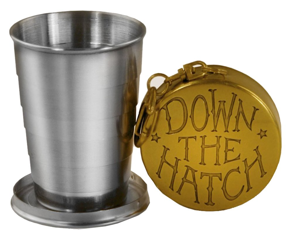 Down the Hatch Stainless Steel 2oz Portable Shot Glass