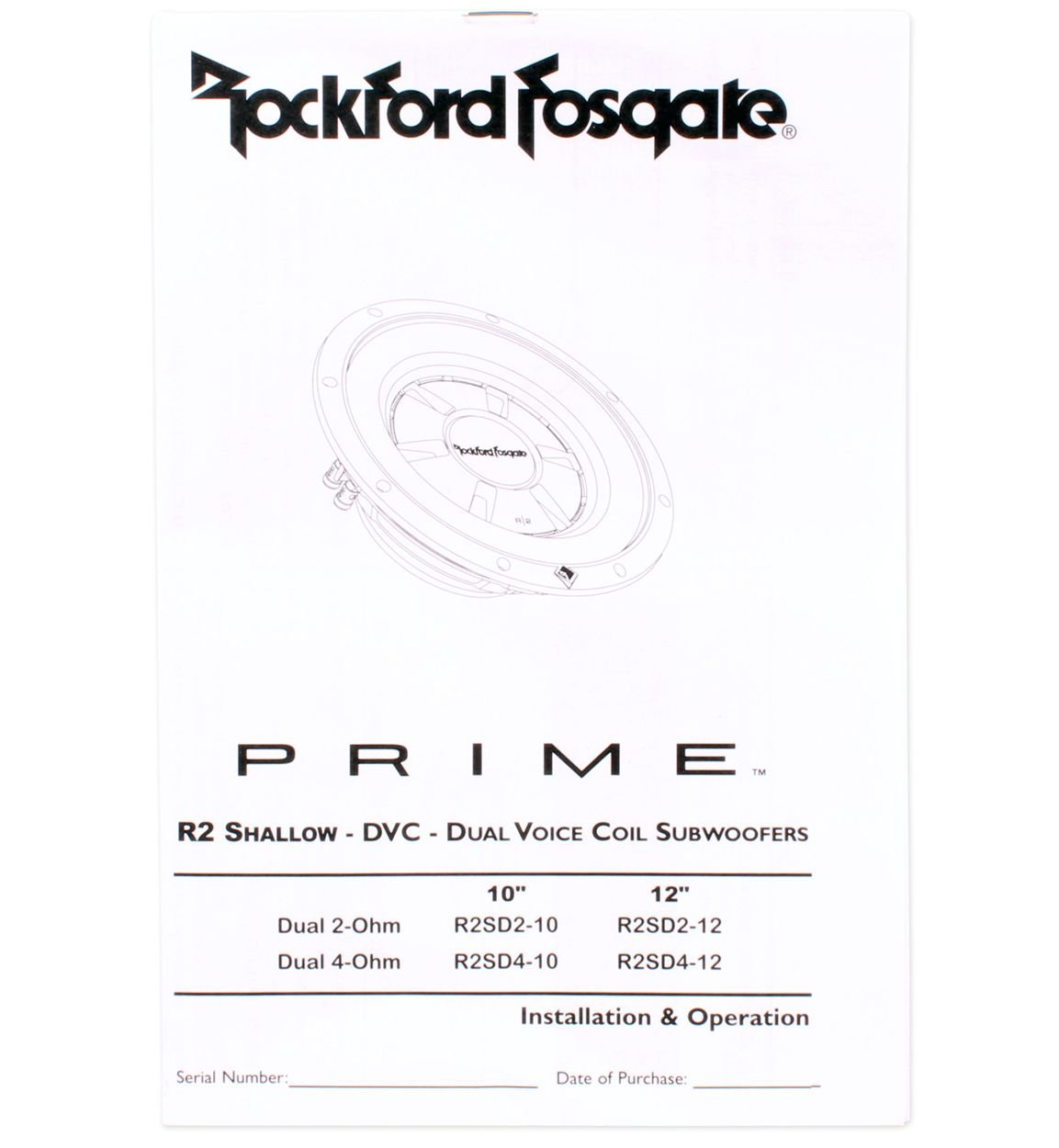 2 Rockford Fosgate R2sd4 10 800 Watt Prime R2 Dual How To Wire Voice Coil Sub 4 Ohm Shallow Subwoofers Car Electronics