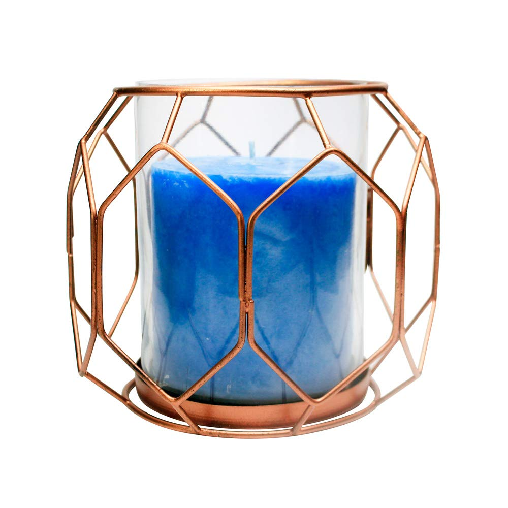 Amber Home Goods Geometric Copper Finish Candle Holder